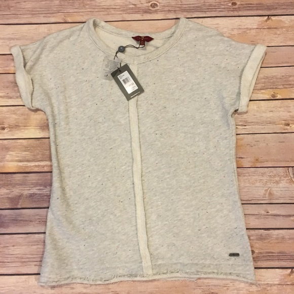 7 For All Mankind Tops - 7 for All Mankind Girl Short Sleeve Sweatshirt, XL